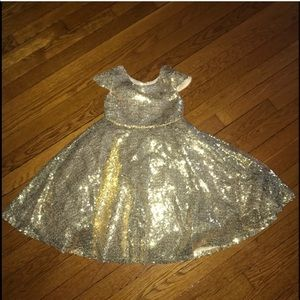 Other - Gold sequin dress size 5